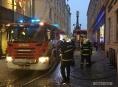 Uvnitř restaurace v historickém centru Olomouce hořelo