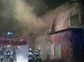 Jedna osoba byla zraněna při nočním požáru v Malé Moravě