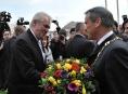 Hejtman Jiří Rozbořil přivítal prezidenta republiky Miloše Zemana s manželkou