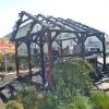 Zničený altán u restaurace v Šumperku   zdroj foto:HZS Ok
