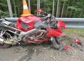 Účastníky nehod na Jesenicku se stali cyklista i motorkář