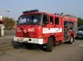 Požár balíků slámy v Lesnici na Šumpersku