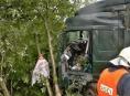 AKTUALIZOVÁNO. Zahraniční kamion se převrátil na R35 u Palonína