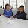 podpis memoranda - generální ředitelka ÚP ČR Marie Bílková a prezidentka ČSKI Olga Štěpánková  zdroj foto:up
