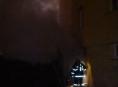 Noční požár v Loučné nad Desnou