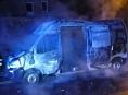 AKTUALIZOVÁNO!Noční požár v Leštině zničil dodávku