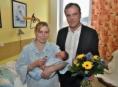 První letošní miminko Olomouckého kraje se narodilo v Jeseníku