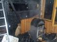 Technická závadě na topidle zavinila požár zahradní chatky v Zábřehu