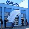 Šumperk - odhalování loga Škoda     foto:sumpersko.net