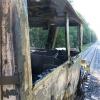 Požár kolejového vozidla - Střeň             zdroj foto: HZS Olk