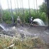 Krchleby - hasiči likvidují požár lesa           zdroj foto: HZS Ok
