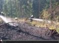 VIDEO: Ve Vojtíškově hořel les