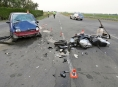 Dopravní nehodu u Palonína motorkář nepřežil