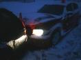 Nejenom husté sněžení zavinilo nehodu