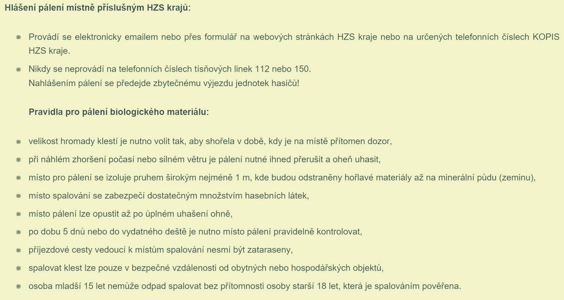 doporučení zdroj:GŘ HZS ČR