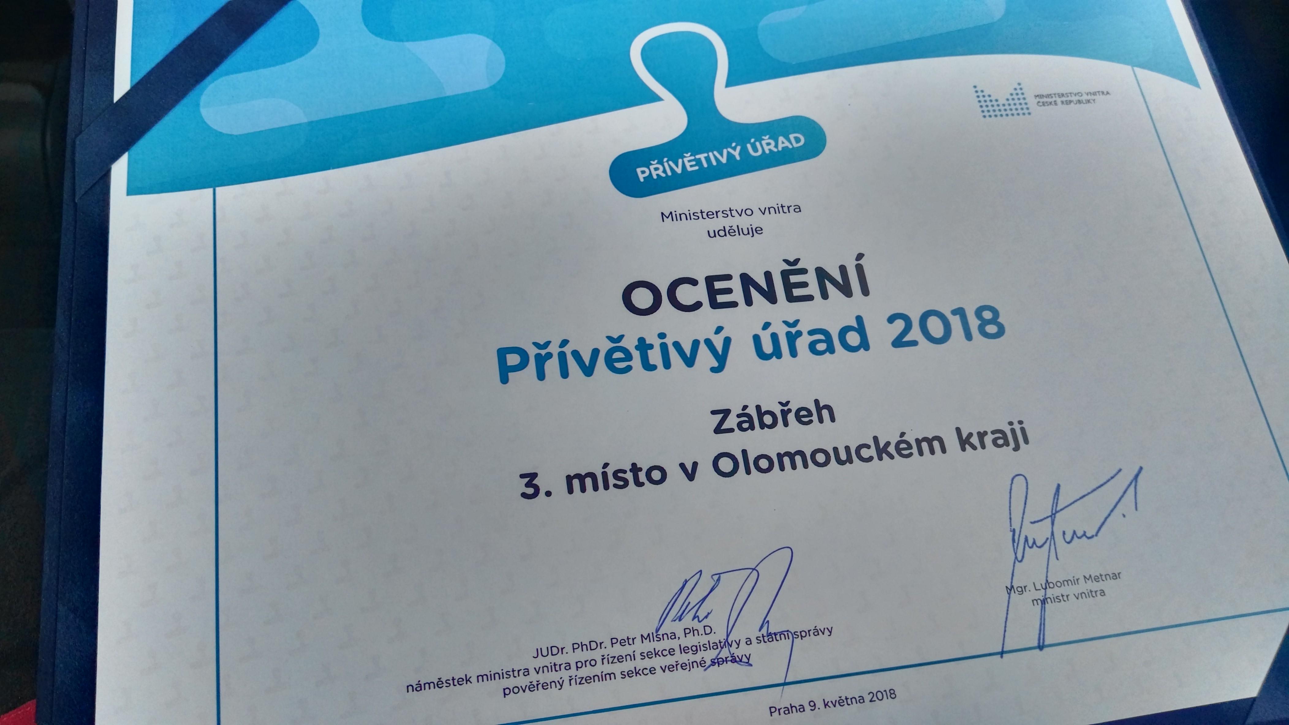 Zábřeh má třetí nejpřívětivější úřad Olomouckého kraje zdroj foto: muz