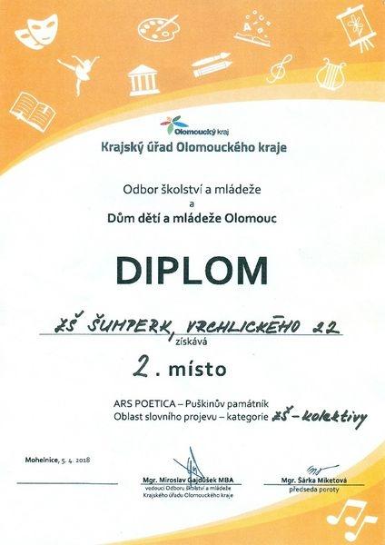 Mohelnice - ARS Poetica - Puškinův památník zdroj foto: škola