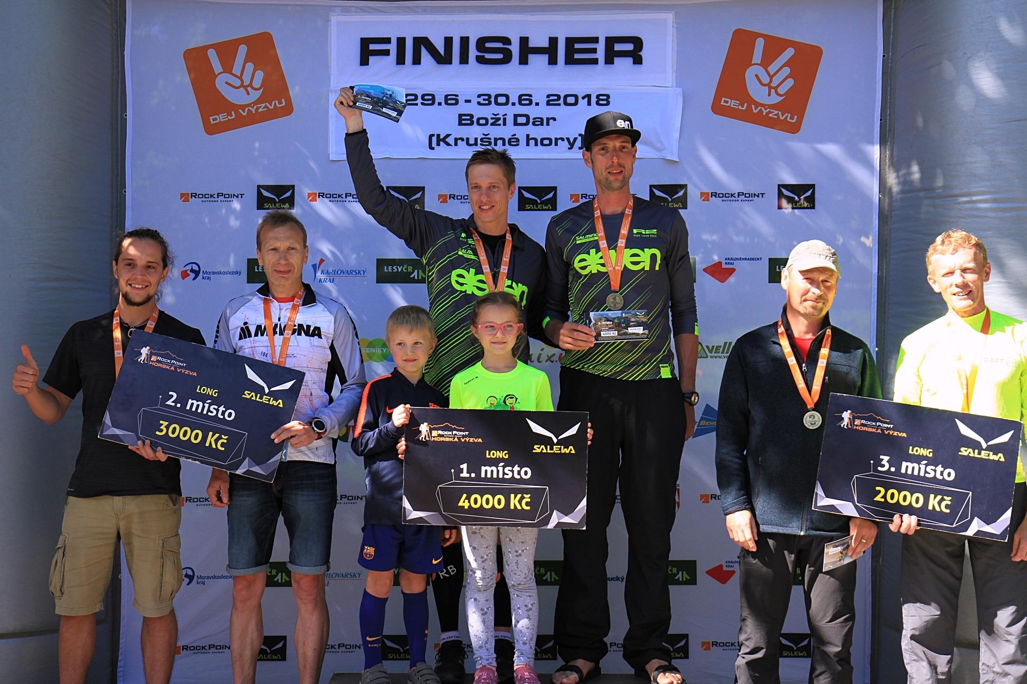 pódium s nejrychlejšími běžci na Longu foto:P. Pátek PatRESS.cz