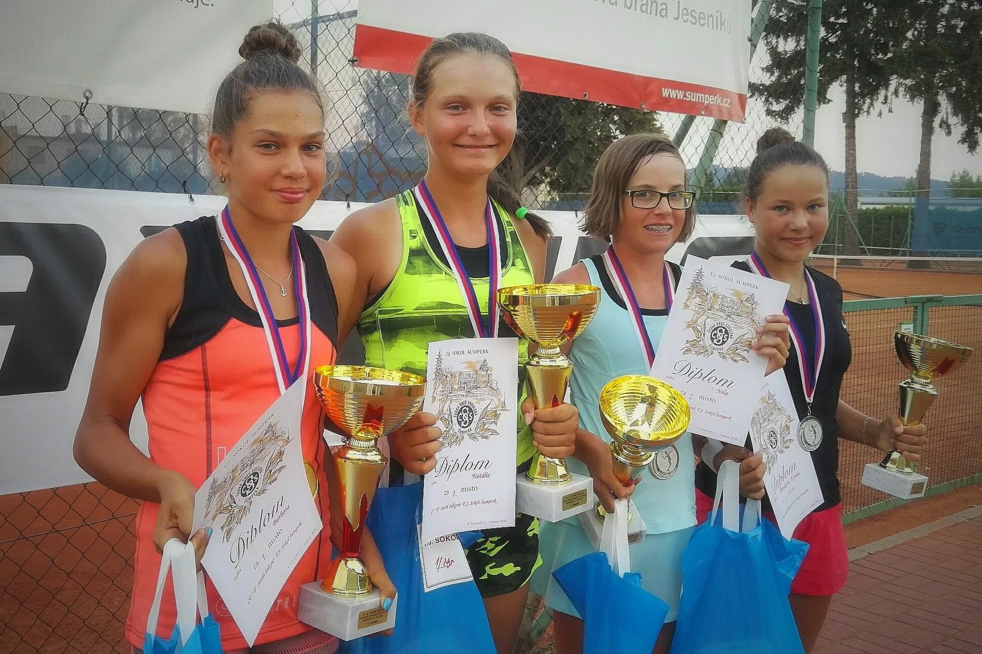 Šumperk - tenisový turnaj starších žákyň foto: F. Porteš