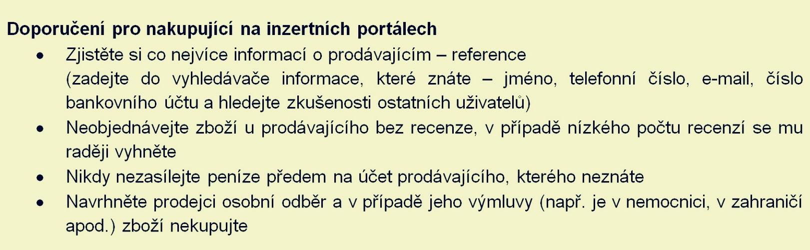 policie doporučuje zdroj: PČR