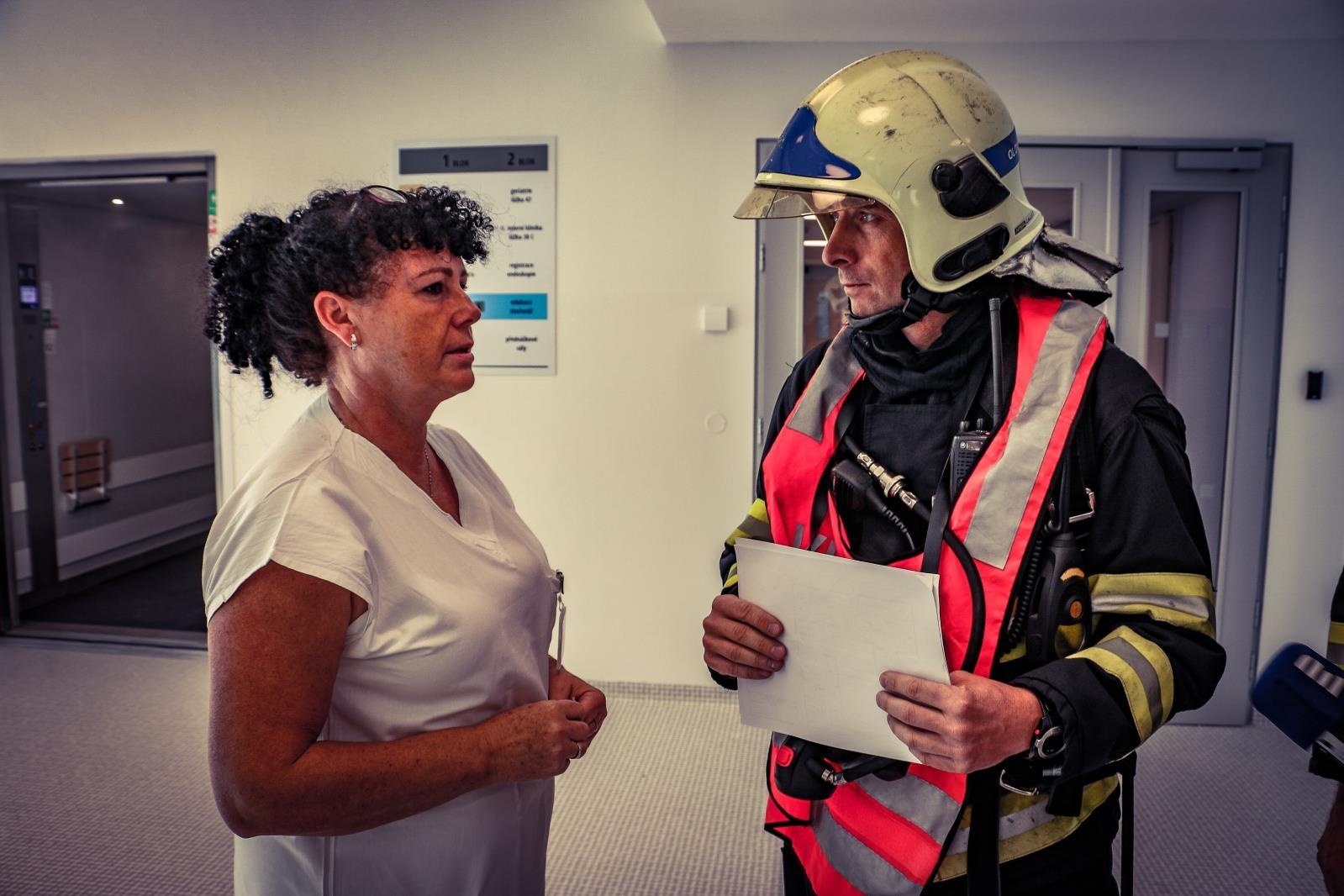 FN Olomouc - Evakuace 2018 zdroj foto: HZS OLK