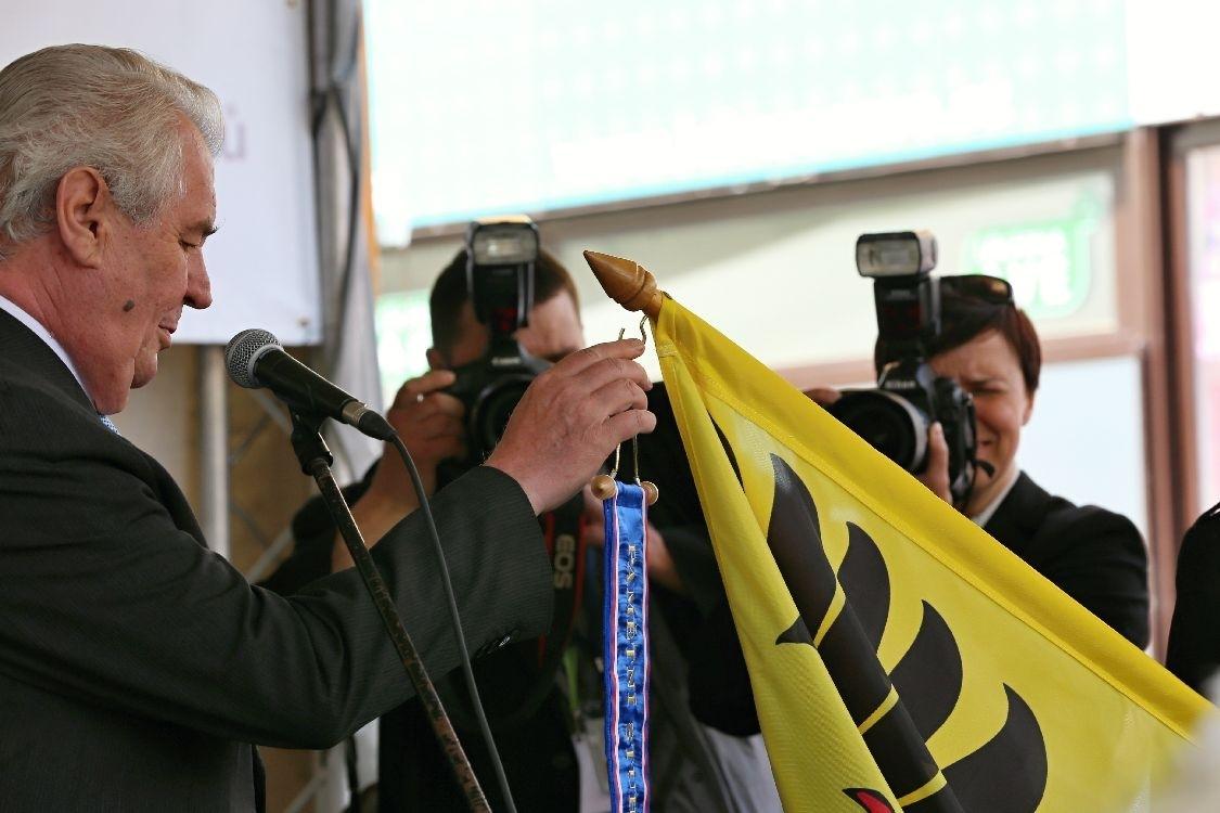 Šumperk - návštěva prezidenta M. Zemna v roce 2015 foto: archiv šumpersko.net