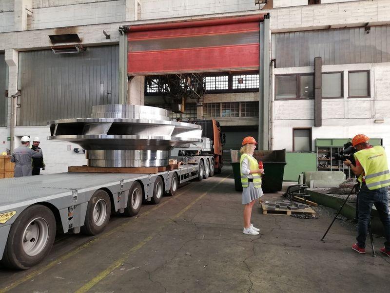Oběžné kolo pro přečerpávací elektrárnu Dlouhé stráně zdroj foto: H. Hikelová