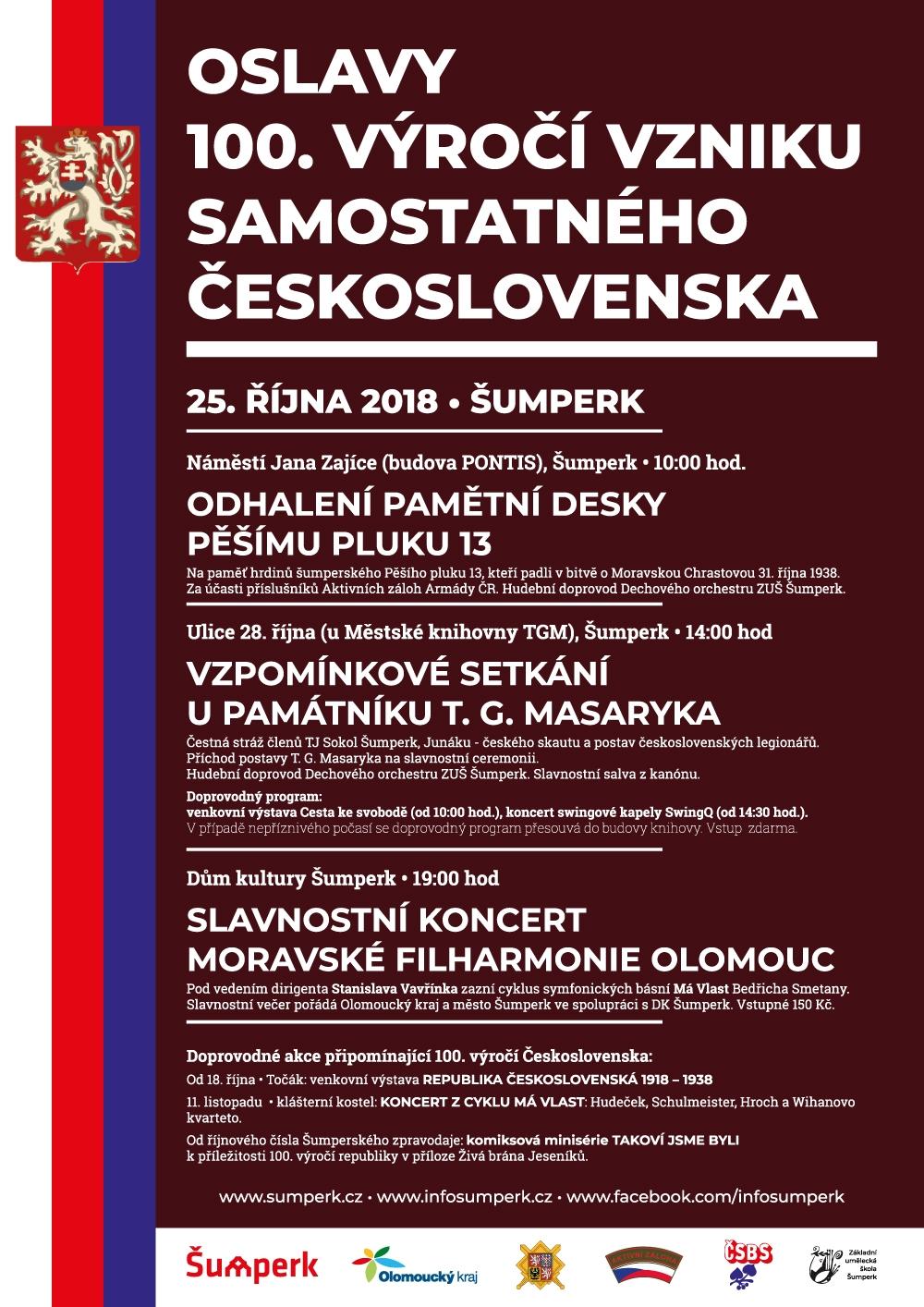 pozvánka - akce založení samostatného československého státu zdroj: mus