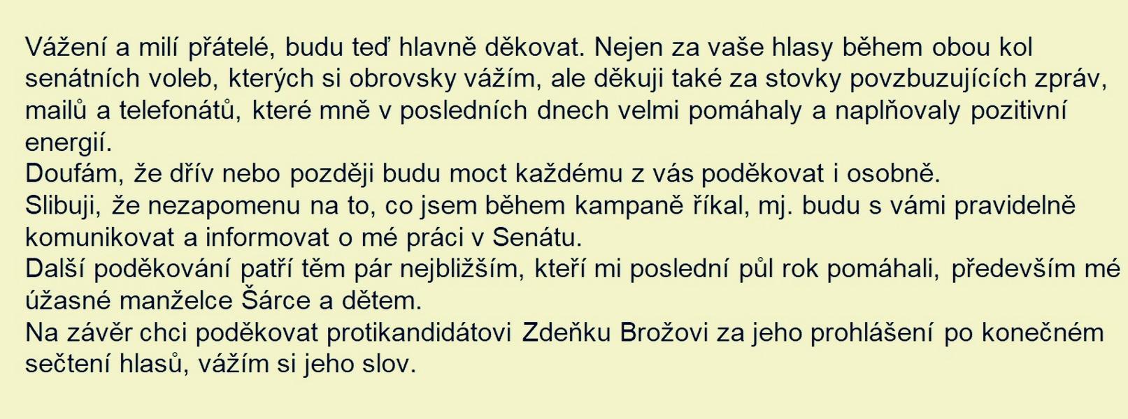 Mgr. Miroslav Adámek - po sečtení hlasů druhé kola zdroj: FB. M.A.