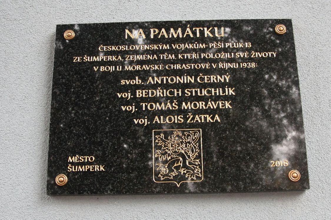 Město Šumperk poctilo československé vojáky Pěšího pluku 13 zdroj foto:šumpersko.net - S. Adoltová