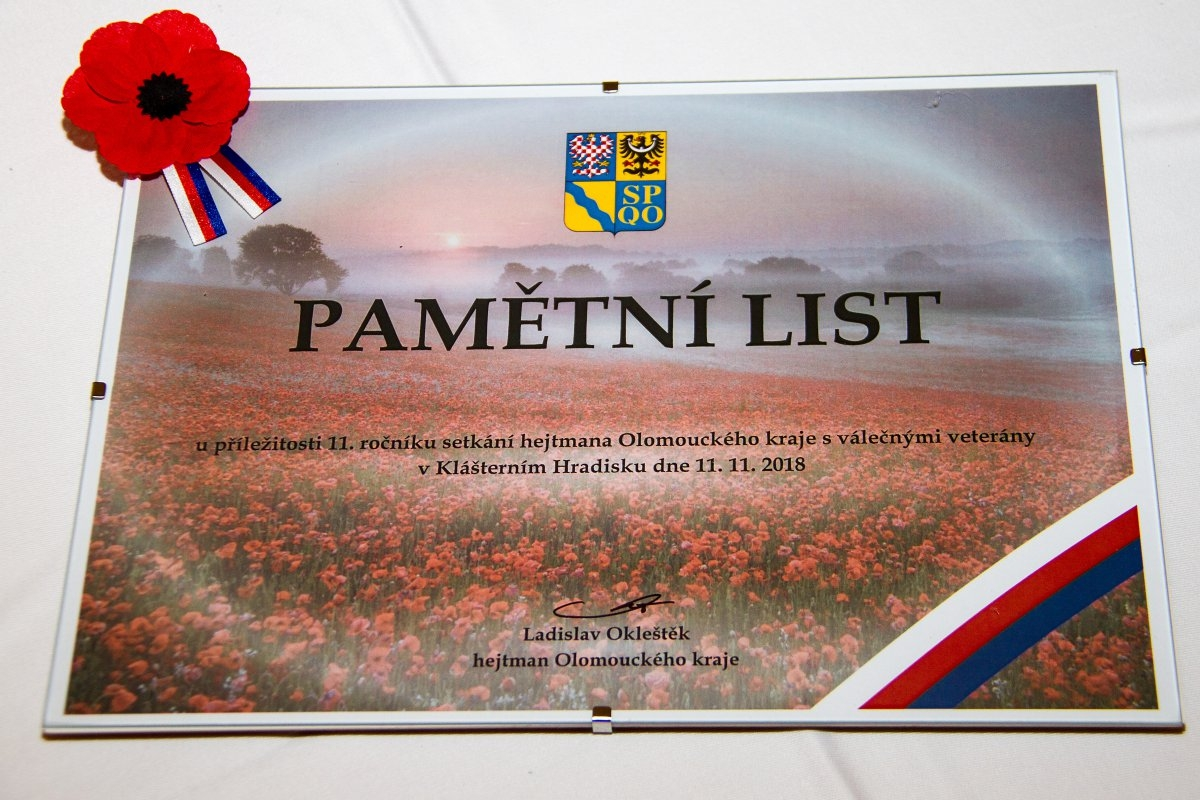 Olomoucký kraj připomněl Den válečných veteránů zdroj foto: OLK