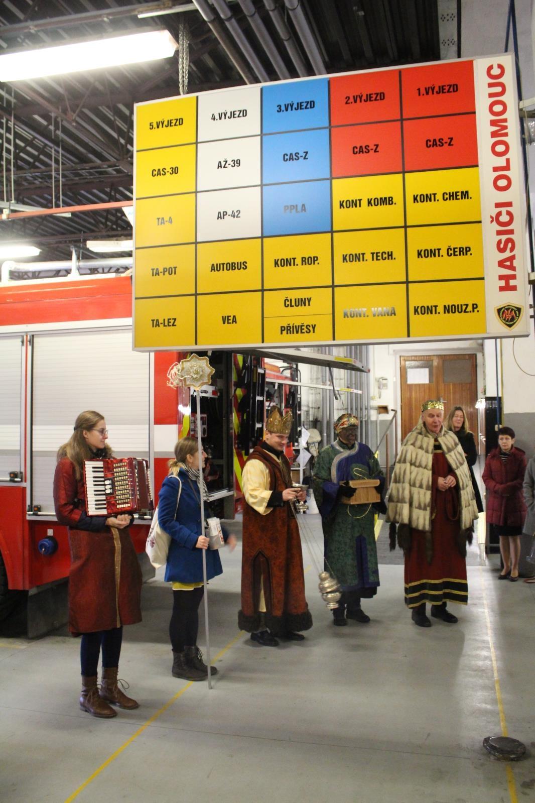 Tříkrálová sbírka v Olomouckém kraji zdroj foto: HZS OLK