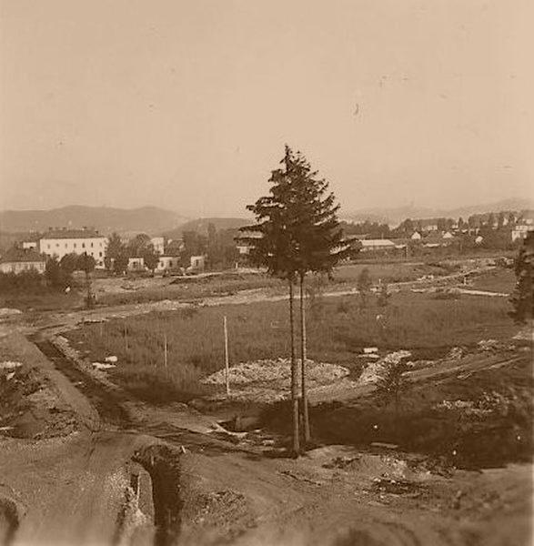 Šumperk - před zahájením stavby V. ZŠ zdroj foto: archiv