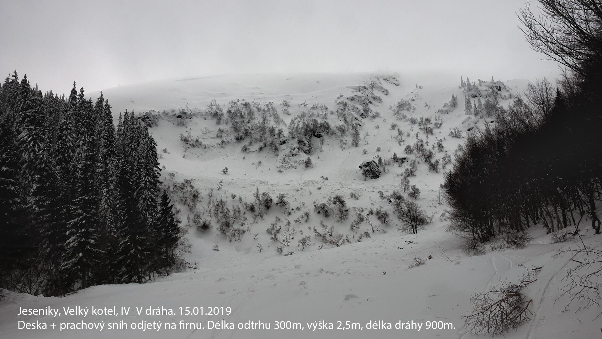 V Jeseníkách se samovolně sesunula největší lavina za posledních dvacet let zdroj foto: HS