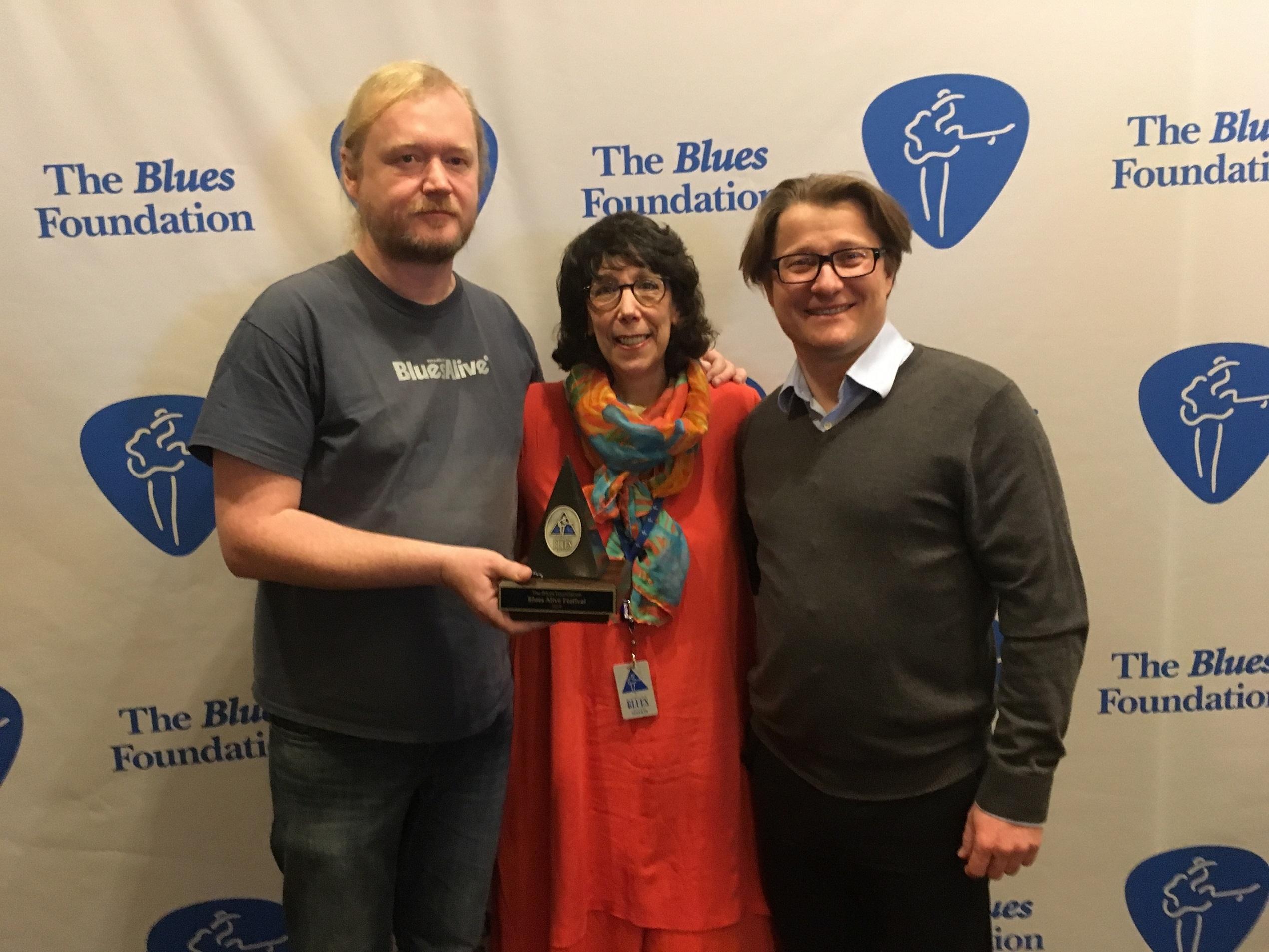 Blues Alive získal nejprestižnější světové bluesové ocenění zdroj: Blues Alive;KBA Sylvie Bosc