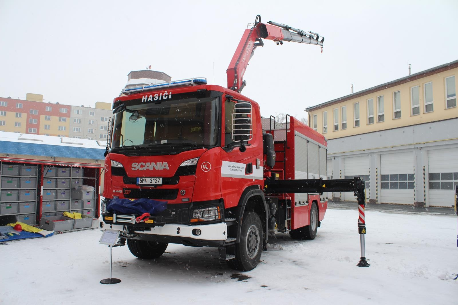 Profesionální hasiči v kraji získali novou techniku zdroj foto: HZS OLK