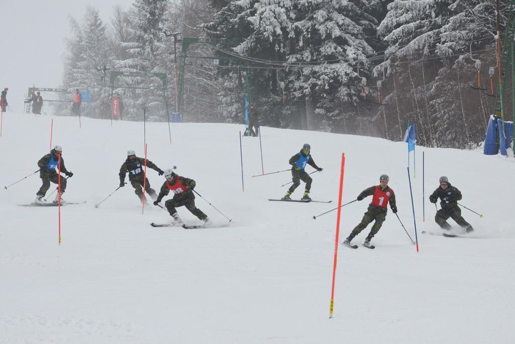 Paralelní slalom na sjezdovce Kazmarka v Karlově foto: Jiří Pařízek