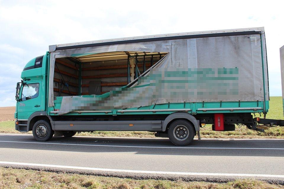 DN ve směru od Topolan na Křelov zdroj foto: PČR