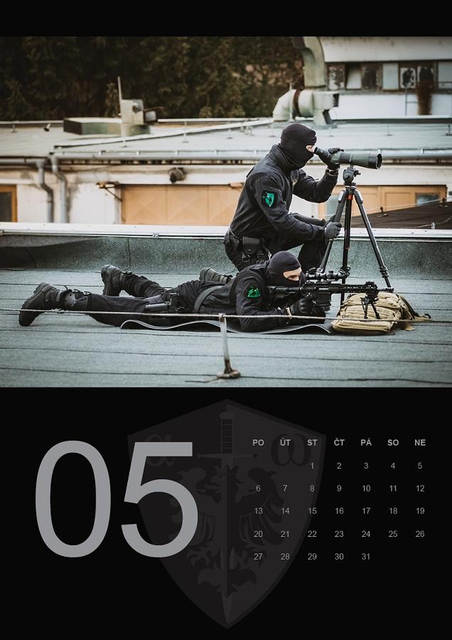 kalendář zásahové skupiny ZONA - květen 2019 foto: Vít Kocián