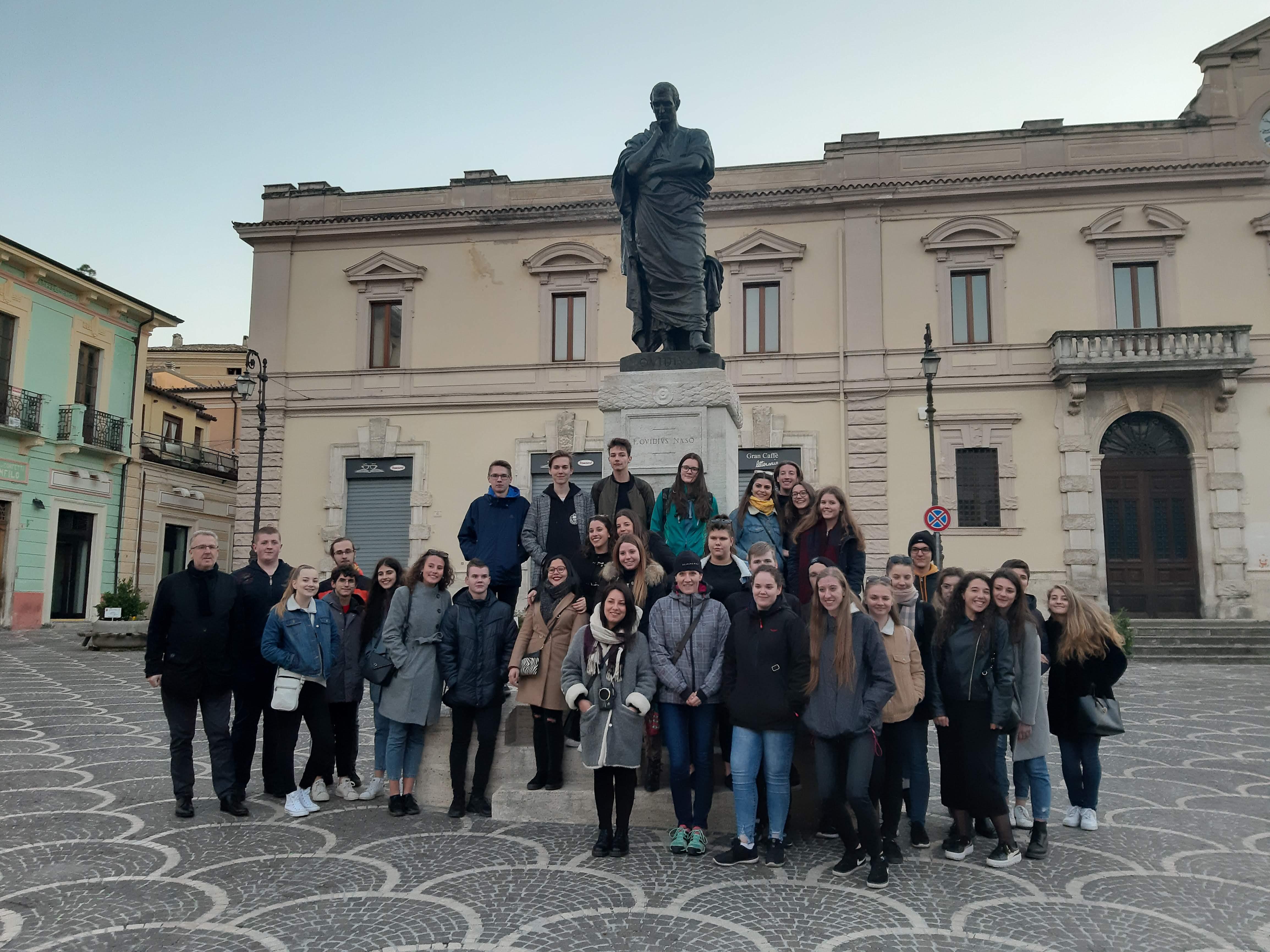 Šumperští studenti v partnerském města Sulmona zdroj foto: mus