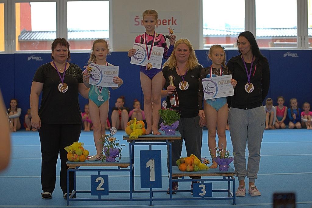 nejmladší kategorie 2011 - 2. místo GK Šumperk Markéta Hermannová zdroj foto: GK Šumperk