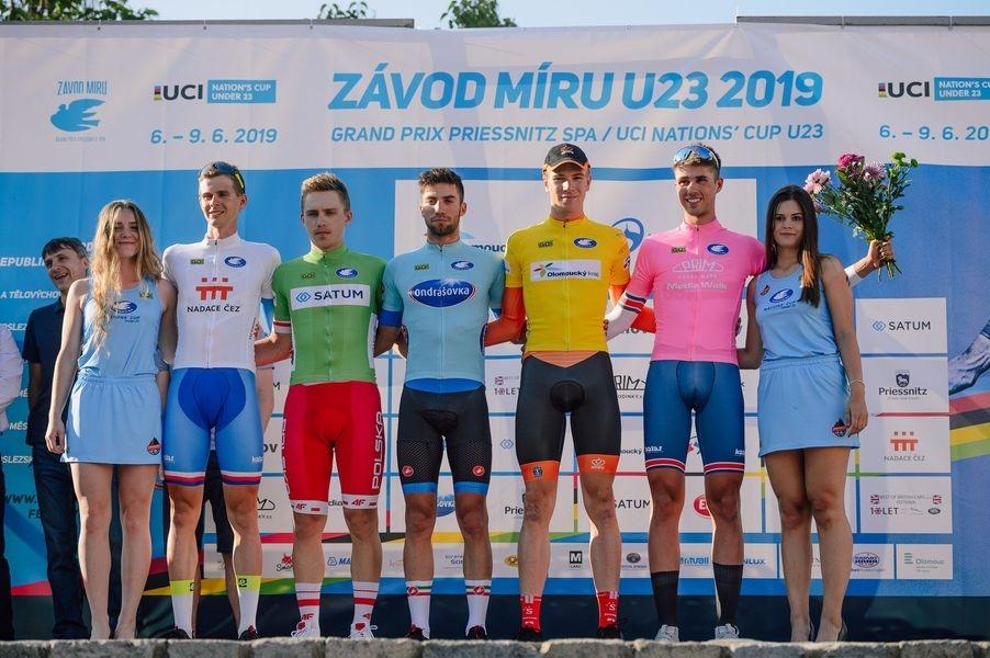 podium foto: Jan Brychta / Závod míru U23 - jesenická cyklistika