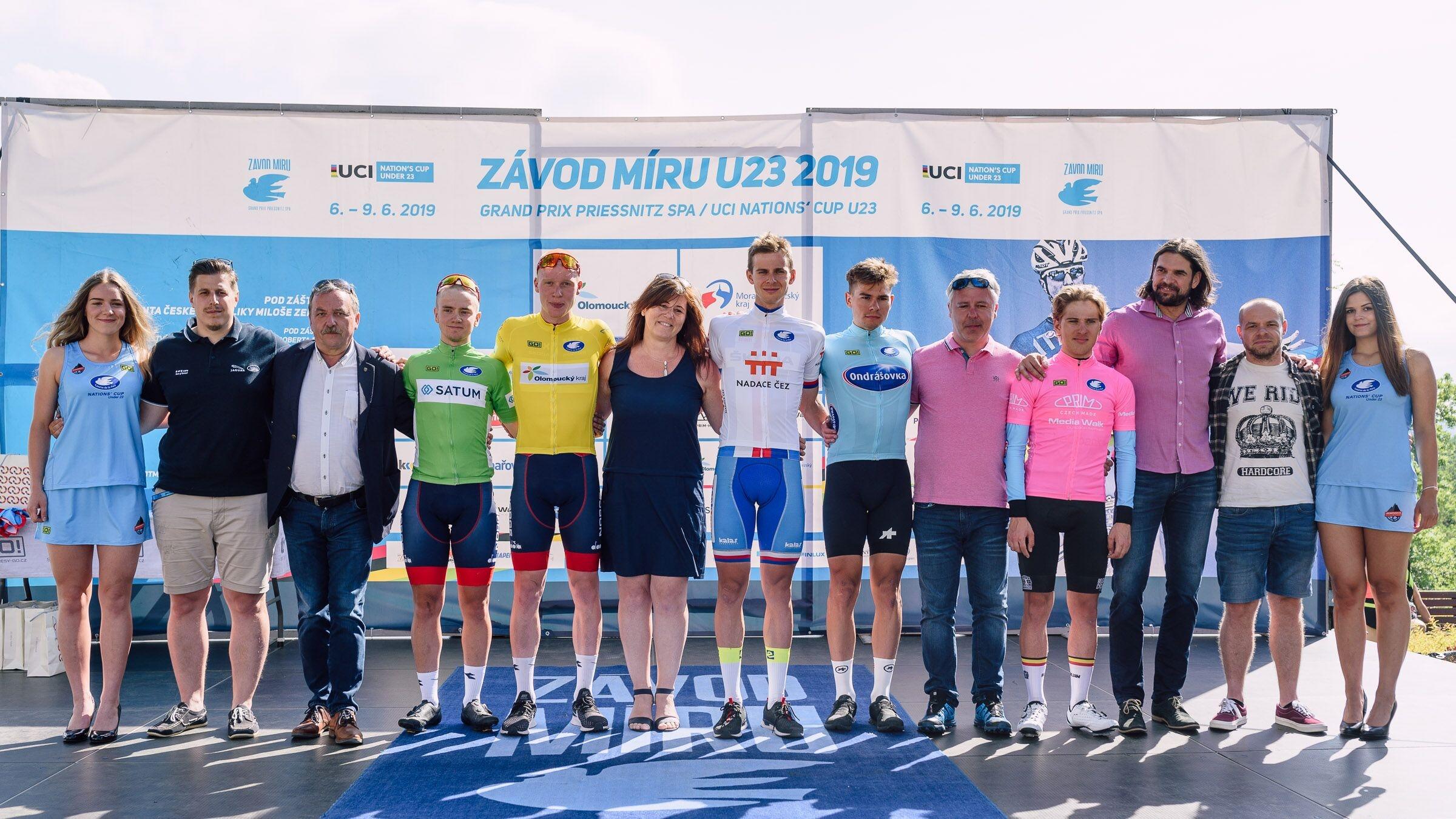 pódium foto: Jan Brychta / Závod míru U23 - jesenická cyklistika