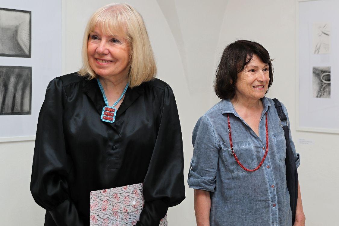 Daniela Fischerová, Irena Šafránková - vernisáž výstavy Uhlem, pastelem, olejem foto: sumpersko.net - M. Jeřábek