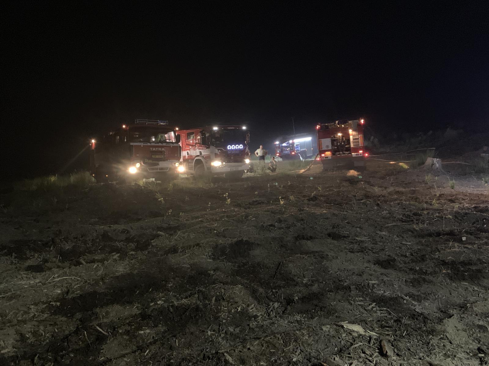 Hasiči likvidovali rozsáhlý lesní požár ve Vojenském prostoru Libavá zdroj foto: HZOLK