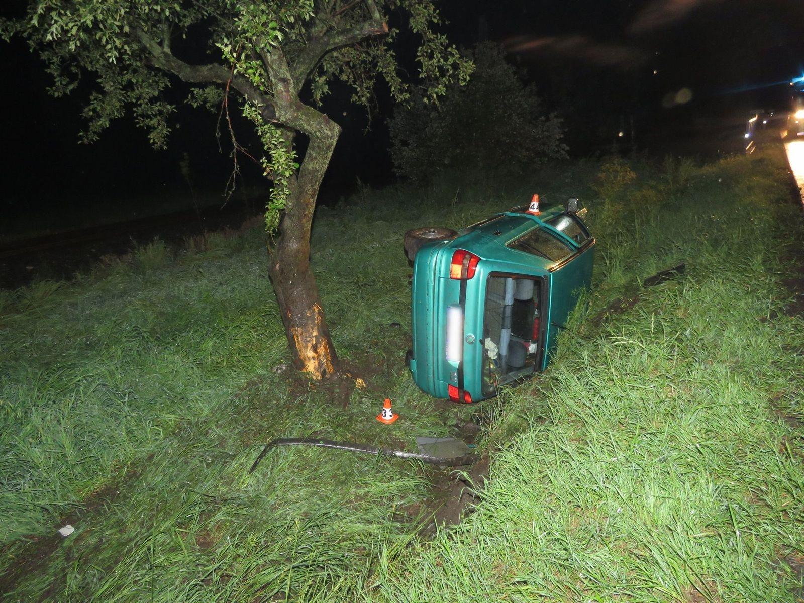 havárie vozidla u Velkých Losin zdroj foto: PČR