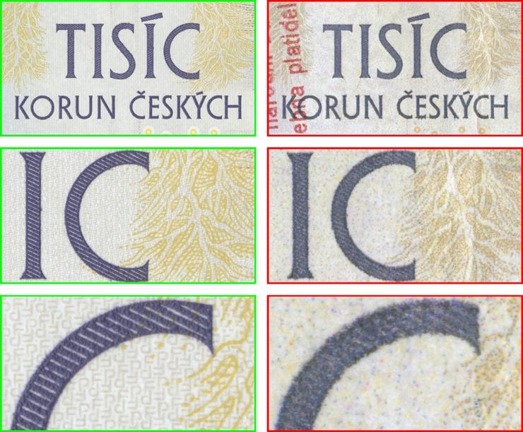 Výskyt padělaných a poškozených českých bankovek zdroj foto: ČNB