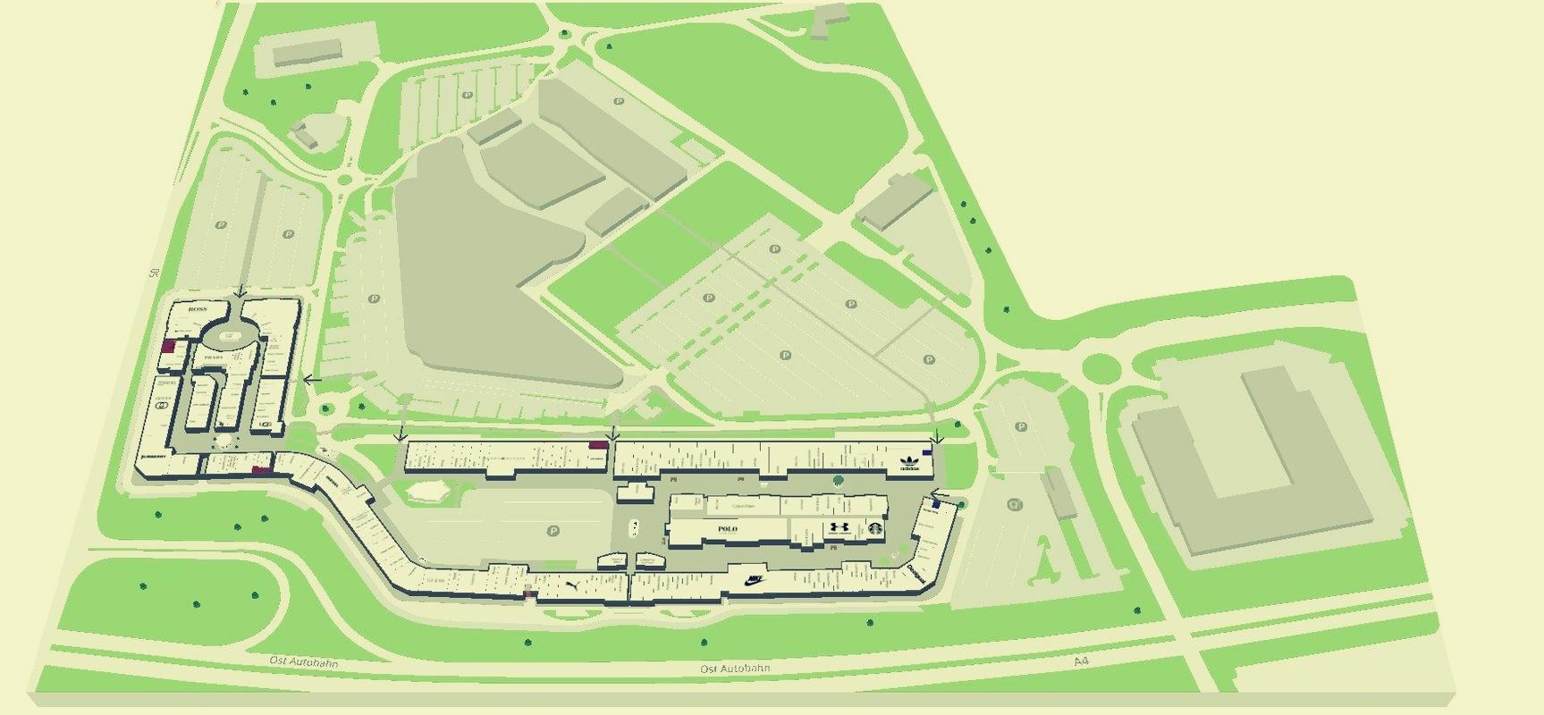 mapa centra