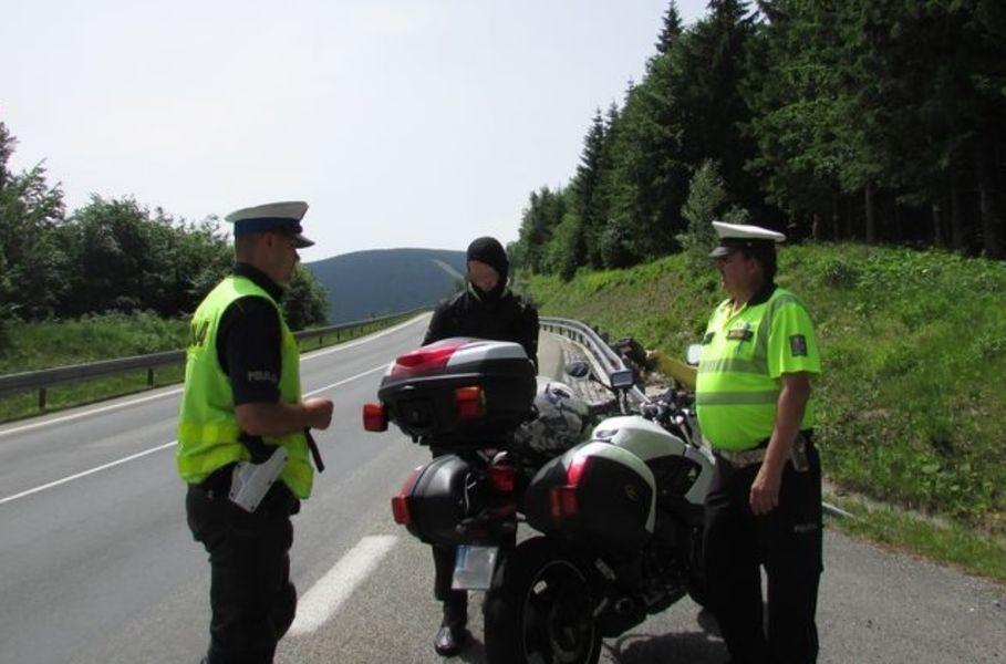 Červenohorské sedlo - dopravně bezpečnostní opatření zdroj foto: PČR