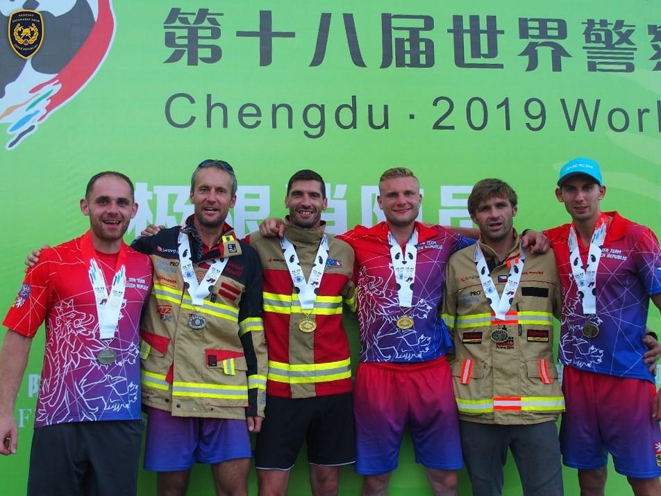 Medailová sklizeň hasiče Olomouckého kraje v Číně zdroj foto: HZS OLK